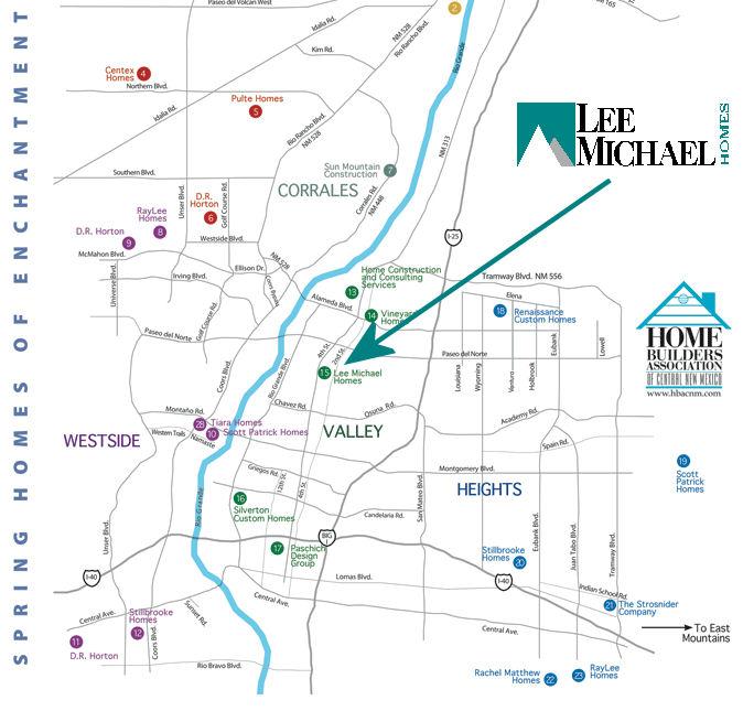 Albuquerque Parade of Homes Map Spring 2011