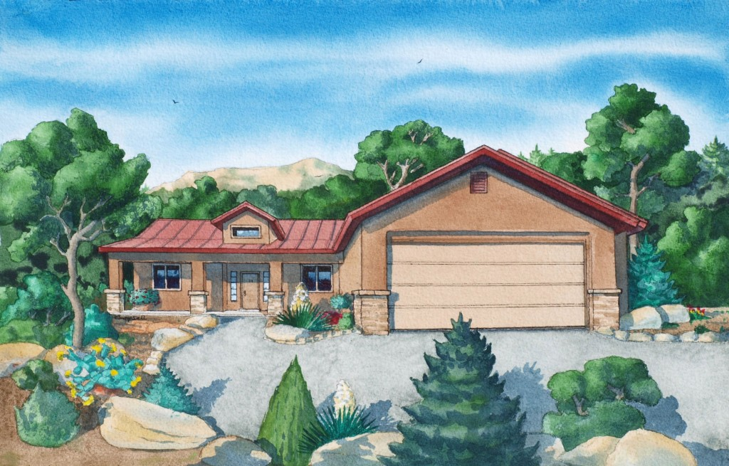 east mountain custom home in tijeras