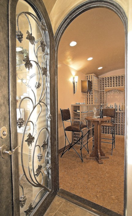 north valley rv home wine room