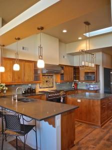 Contemporary design commands this North Albuquerque Acres kitchen