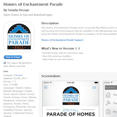 Buyer's Choice Voting with Homes of Enchantment Parade APP - Lee