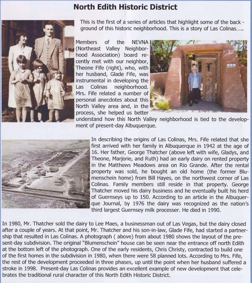 history of las colinas new mexico