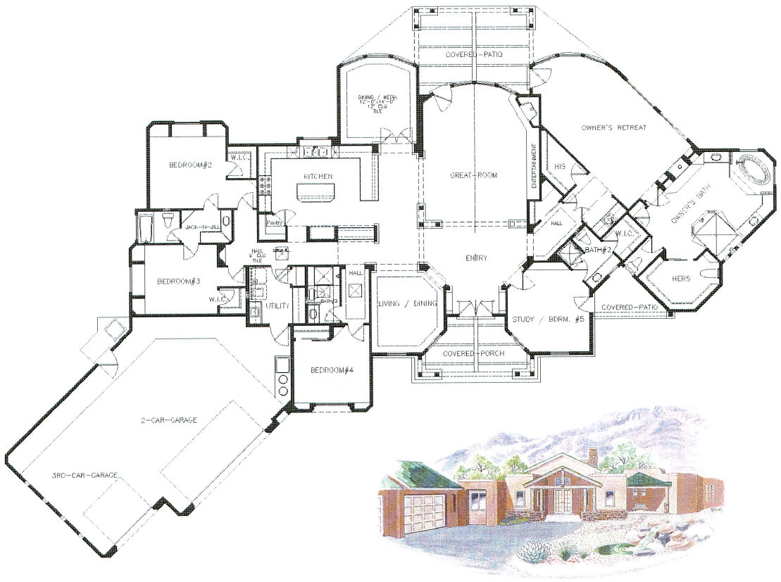 northeast heights craftsman home floorplan