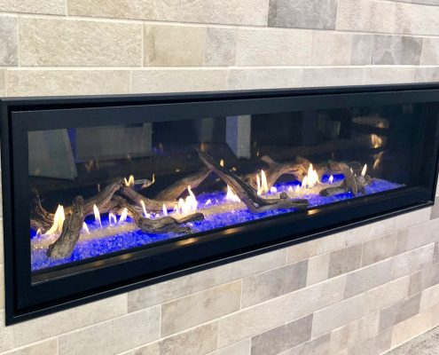 custom home boulevard linear vent-free fireplace