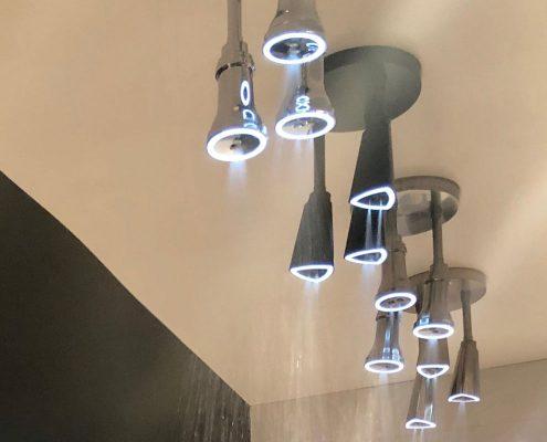 custom home delta raincan led light bathroom shower heads