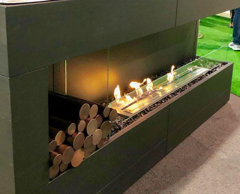custom home ecosmart flex self-contained fireplace