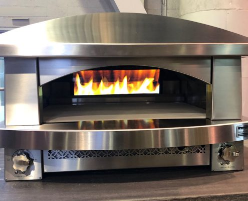 custom home kalamazoo builtin kitchen pizza oven