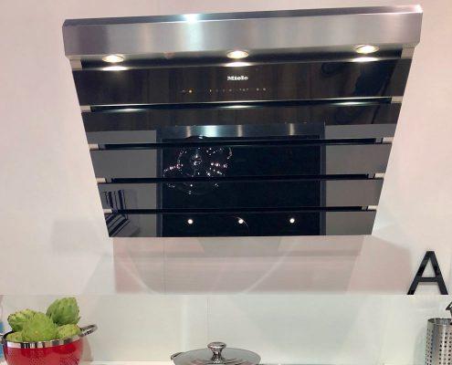 custom home miele kitchen stovetop vent hood