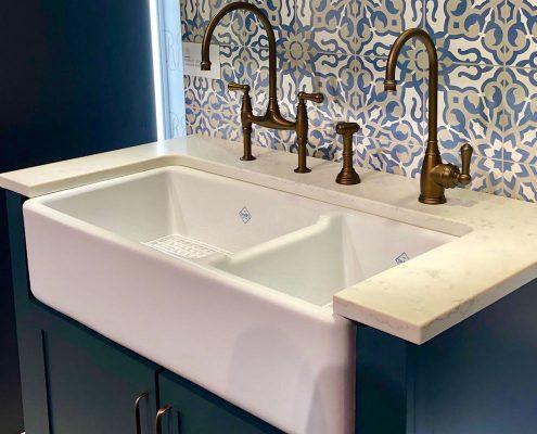 custom home rohl farmhouse shaws fireclay kitchen sink