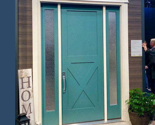 custom home thermatru classic american barn-style front door